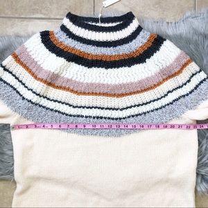 Caslon Sweaters - New Caslon Striped Mohair Blend Mock Neck Sweater